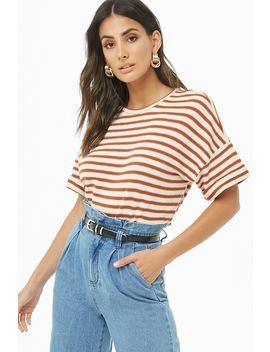 Striped Boxy Knit Top by Forever 21