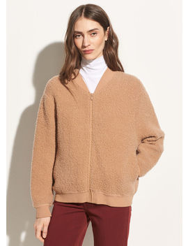 Bouclé Wool Bomber by Vince