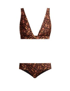 Juniper Floral Print Triangle Bikini by Zimmermann