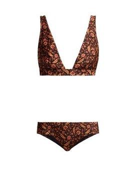 Juniper Floral Print Triangle Bikini by Zimmermann