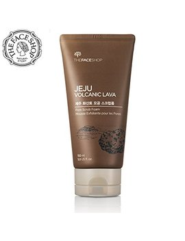 The Face Shop Jeju Volcanic Lava Pore Exfoliator Foaming Scrub For Facial Blackhead Cleansing (150 M L/5.0 Oz) by Thefaceshop