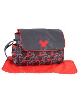 Disney Micky Mouse Messenger Diaper Bag   Red/Grey by Disney