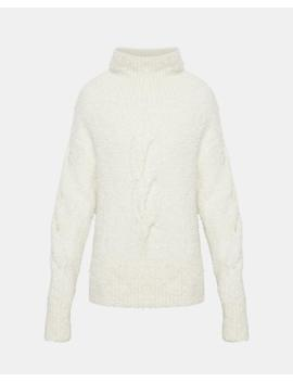 Mohair Boucle Cable Turtleneck by Theory