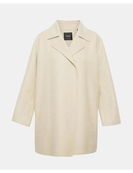 Double Faced Melange Overlay Coat by Theory
