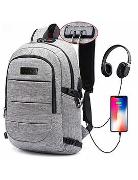 Laptop Backpack For School Travel, Fits 15.6in Computer Durable Casual Anti Theft Backpack Travel Bag, With Usb Charging Port And Headphone Jack, Waterproof Large Compartment Daypacks by Su Sh