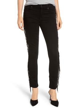 Beaded Fringe Ankle Skinny Jeans by 7 For All Mankind®