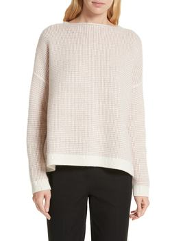 Cashmere Waffle Stitch Pullover by Nordstrom Signature
