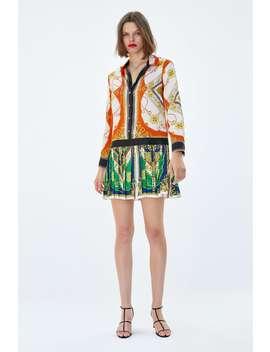 Patchwork Chain Dress  Shirt Dress Dresses by Zara