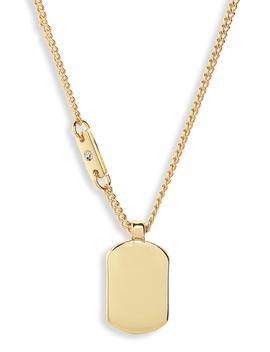 Metal Tablet Pendant Necklace by Treasure & Bond
