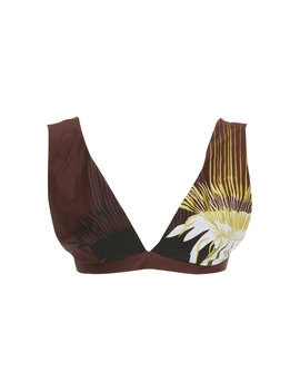 Wide Strap Printed Bikini Top by Lenny Niemeyer
