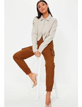 Rust Plain Cargo Pants by Missguided
