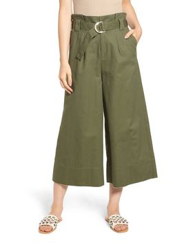 Paperbag Waist Wide Leg Crop Pants by Know One Cares