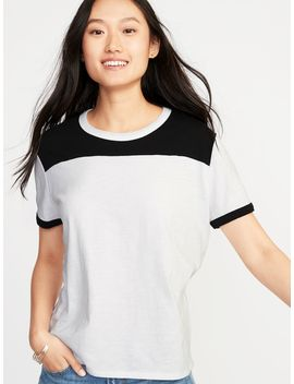 Boyfriend Color Block Tee For Women by Old Navy
