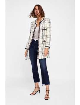 Plaid Coat With Stripes  Coatswoman Sale by Zara