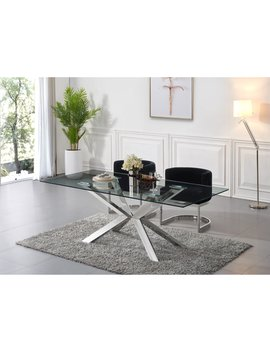 Meridian Furniture Inc Juno Chrome Dining Table by Meridian Furniture Inc