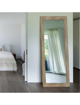 Mistana Areli Weathered Sand Barnwood Wall Mirror & Reviews by Mistana