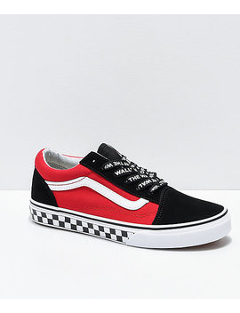 Vans Old Skool Logo Pop Red Skate Shoes by Vans