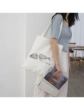 Tang Tang Bags   Print Canvas Tote Bag by Tang Tang Bags