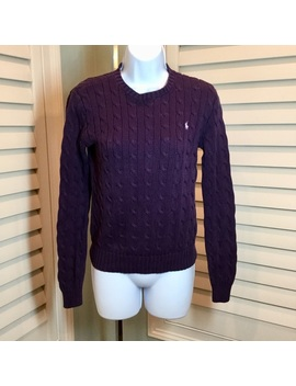 Ralph Lauren Cable Knit Sweater, Small by Ralph Lauren