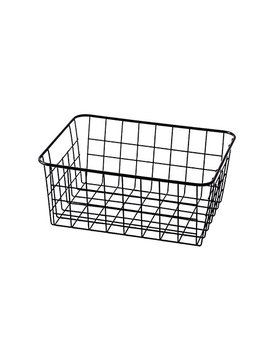 Sturdy Small Wire Storage Basket With Kitchen Food Pantry Papers Home Office Desk Shelf Bathroom Laundry Room Shelf Bedroom Bed Room by Luant