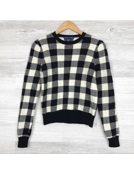Ralph Lauren Buffalo Check Wool Sweater Size S by Ralph Lauren