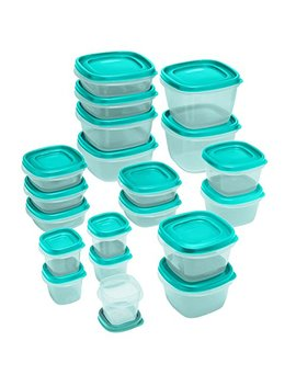 Rubbermaid Food Strg Set 40pc Tl, 40 Piece, Turquoise by Rubbermaid