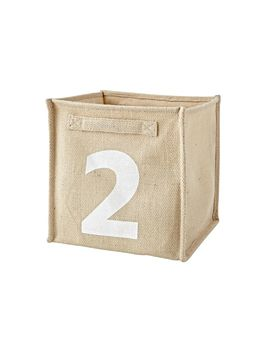 Alphanumeric 2/B Cube Bin by Crate&Barrel