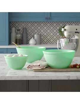 Mint Pantry Channing 3 Piece Glass Mixing Bowl Set & Reviews by Mint Pantry