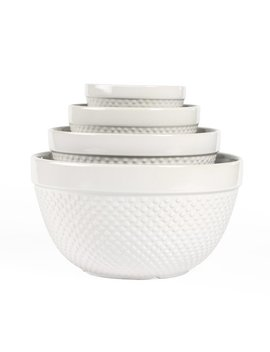 Tabletops Gallery 4 Piece Hobnail Mixing Bowl Set & Reviews by Tabletops Gallery