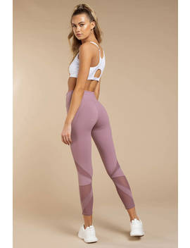 Juliette Light Mauve Mesh Cropped Leggings by Tobi