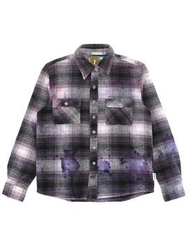 """""""Studio Flannel"""" Shirt Black / White / Pink by Advisory Board Crystals"""