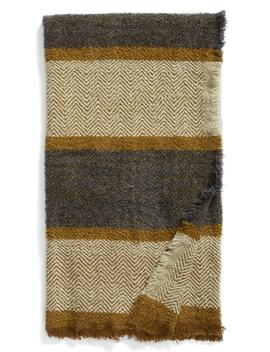 Herringbone Stripe Throw by Treasure & Bond