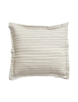 Space Dyed Stripe Euro Sham by Treasure & Bond