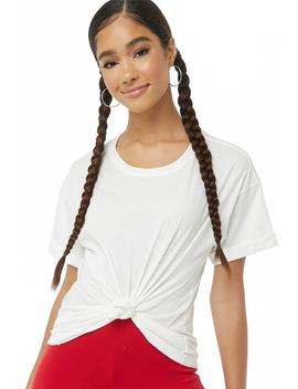 Cuffed Short Sleeve Tee by Forever 21