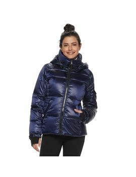 Women's S13 Hooded Satin Down Puffer Jacket by Kohl's