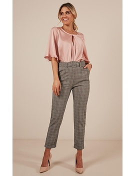The Cool Girl Pants In Grey Check by Showpo Fashion