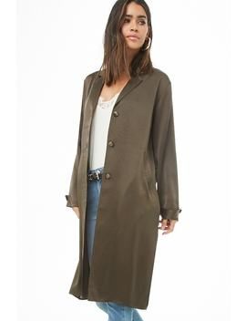 Satin Trench Coat by Forever 21