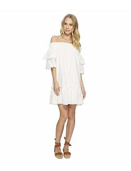 Off The Shoulder Eyelet Lace Dress by J.O.A.