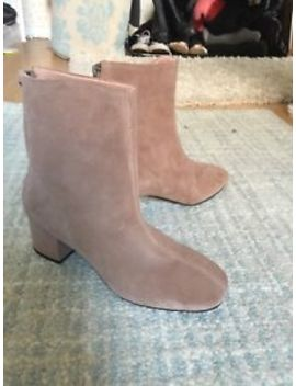 New Topshop Camel Suede High Ankle Booties, With Tags by Ebay Seller