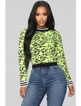 Crazy For You Sweater   Green/Combo by Fashion Nova