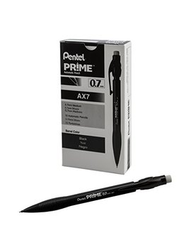 Pentel Prime Mechanical Pencil 0.7mm, Black Barrel, Box Of 12 (Ax7 A) by Pentel