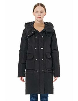 Orolay Women's Thickened Double Breasted Puffer Down Hooded Jacket by Orolay