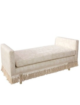Weston Welted Daybed With Fringe Cream Animal Print   Cloth & Co. by Cloth & Co.