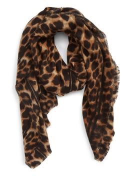 Leopard Print Blanket Scarf by Sole Society