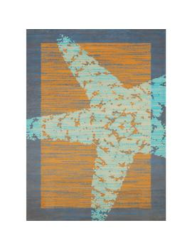 Panama Jack Star Fish Border Peach 5 Ft. X 7 Ft. Indoor Area Rug by Home Depot
