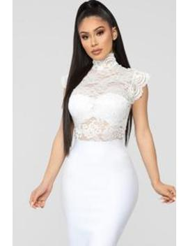Love Me More Bodysuit   White by Fashion Nova