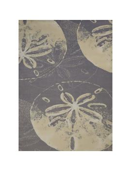 Panama Jack Island Breeze Sand Dollar Cove Charcoal 5 Ft. X 7 Ft. Area Rug by Home Depot