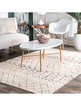 "Nu Loom Moroccan Blythe Area Rug, 6' 7"" X 9', Light Multi by Nu Loom"