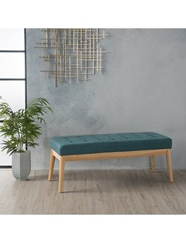 Anglo Deep Teal Fabric Bench by Gdf Studio