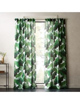 Banana Leaf Curtain Panel by Crate&Barrel